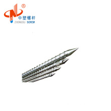 Injection screw and barrel for PVC making