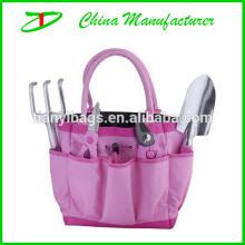 2014 experienced manufacturer offer pink color ladies garden tool bag