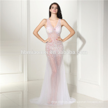 Vestido de noche de gasa con lentejuelas y diamantes 7 colores Vestido de noche sin hombros con hombros descubiertos