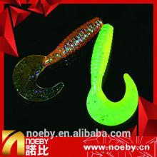 7 см двухцветная искусственная мягкая пластиковая червячная приманка