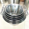 Cesta vegetal do armazenamento da fruta da cozinha, cesta de lavagem redonda do arroz da cesta da cozinha do dissipador
