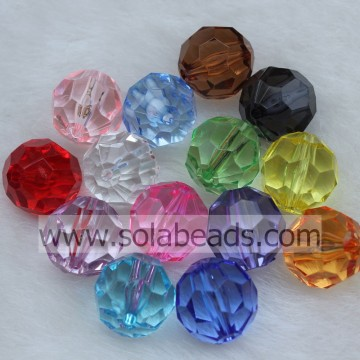 Indoor 12MM Plastic Round Bubble Ball Imitation Swarovski Beads