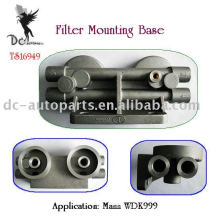 Aluminium Die Casting Parts for Remote Oil Filter Mounting Base