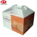 Korrugerad papperskaka förpackningsbox med handtag