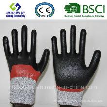 Порезов безопасности перчатки с Нитриловым покрытием