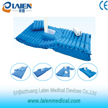 Medical pressure reliev mattress with turn over and toilet