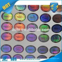 ZOLO top selling PET Custom 3d Hologram Sticker, Acrylic Hologram Label