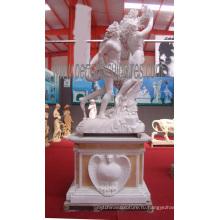 Резьба каменная мраморная скульптура статуя сада для украшения сада (SY-X1193)