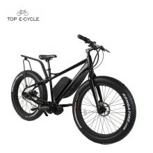 TOP Nuevo Estilo Bafang 750W Mid Drive Motor Fat Tire Snow Bicicleta eléctrica 2017