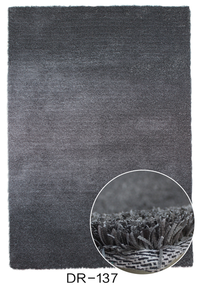 Polyester Stripe Shaggy Shade Rug