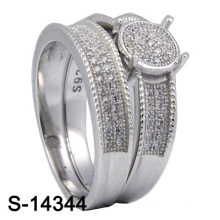 925 Silver Micro Setting Zirconia Jewelry with Women Twins Ring (S-14344)