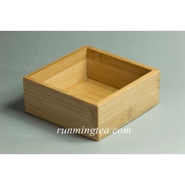 Bandeja de servir de bambu quadrada