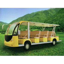 Chinese Professional for Shuttle Bus 14 seats electric or gasoline classical sightseeing car export to Albania Manufacturers