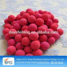 Fabrik direkt Verkauf Schwamm Gummi Ball für Betonpumpe Rohrreinigung
