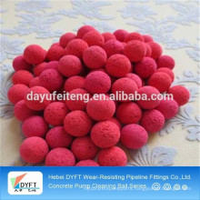 Factory directly sale Sponge Rubber Ball For Concrete Pump Pipe cleaning