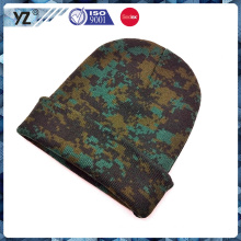 full camo floral print beanie hat made in china