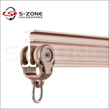 Sliding curtain rail track