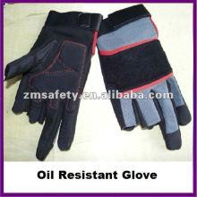 Luva resistente a óleo de couro sintético / luva de carpinteiro ZMR377