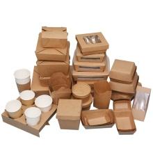 umweltfreundliche kraftpapierbox zum mitnehmen kraftpapierbox vintage papierschublade box kraft für suppensalat fast food zum mitnehmen to go
