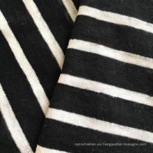 Lino hilado de punto rayas teñidas (QF14-1546-SS)