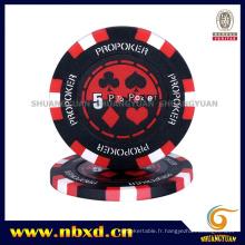 14G Clay 3-Tone PRO Poker Chip avec autocollant personnalisé (SY-E14)