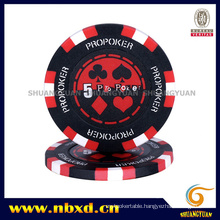 14G Clay 3-Tone PRO Poker Chip with Customized Sticker (SY-E14)