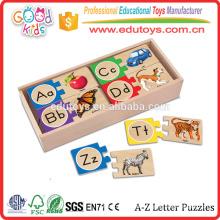 Gute hölzerne Spielwaren Direkte Verkauf DIY Matching Spielzeug Pädagogische Holz Puzzle Spiele