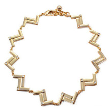 Alloy Wave Gold Plating Necklace (XJW13702)