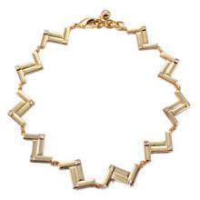 Colar de chapeamento de ouro de onda de liga (xjw13702)
