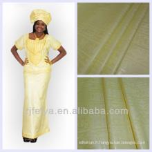 Tissu de vêtement africain Bazin Riche Jacquard Damas Shadda Coton Guinée Brocade Textiles de haute qualité
