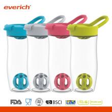 Everich 24oz / 720ml BPA Libre Tritan Shaker botella con tapa de tapa