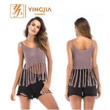 Top venda quente sem mangas Sexy Knit For women