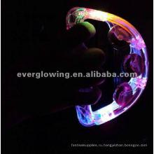Блеск погремушки играют со светом пластиковый лист + нержавеющей стали