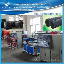 PVC simple paroi ondulée tube faisant la Machine