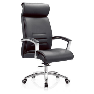 High Back Lounge Black PU Leather Office Chair