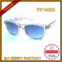 2015 Beautiful Kids Sunglasses with Nice Follower Pattern (FK14050)