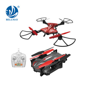 Foldable 2.4 GHz RC Drone 2MP FPV Transmission Quadcopter 6 Axis Gyro & Headless Helicopter Hand Throwing Drone