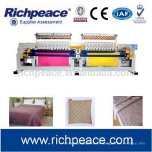 Máquina de acolchado y bordado multicolores computarizados industriales de doble rodillo