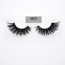 100% Handmade Mink Fur False Eyelashes Mink Fur Strip Lashes 3D 5D 25mm Mink Eyelashes with Different Kind of Package Boxes