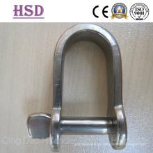 Grillete D de placa de acero inoxidable, níquel 10% -12%