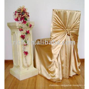 Satin bag/universal chair cover, satin self-tie chair cover,hotel/banquet chair cover