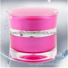 Elegnt tarro de acrílico de lujo para envases cosméticos 5ml 15ml 30ml 50ml