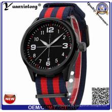 Yxl-311 Reloj casual más barato del calendario de la fecha de la correa de nylon de la nueva llegada Reloj del deporte para las mujeres del Mens resistente de agua