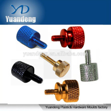 anodized aluminum brass knurled head thumb screws step shoulder knurl knob hand tighten screws