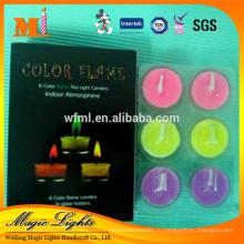 Элегантные цвета пламени чай свет свечи в бумажной коробке