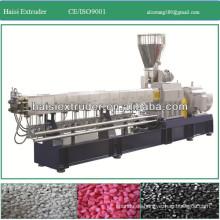 PP/PE/PVC del gemelo-tornillo pellets de plástico que hace la máquina
