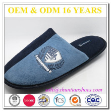 high quality mens suede indoor slipper TPR