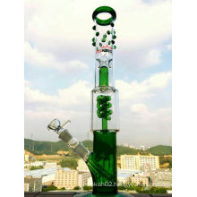 Hb-K41 Oil Rig Glass Water Pipe Grace Glass with Spiral Perc Glass Smoking Pipe 2 Sizes