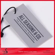 Sinicline Grey Color Card Custom Hang Tag for Men Jacket