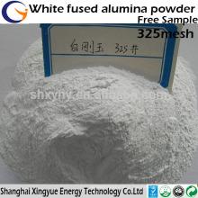 Poudre d'alumine fondue blanche de 320mesh de grande pureté